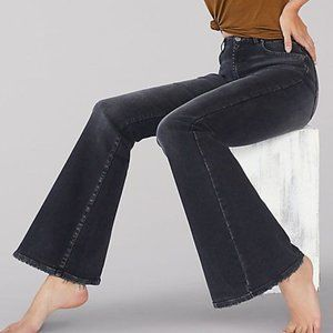 LEE Vintage Modern Washed Black Flare Bell Jeans